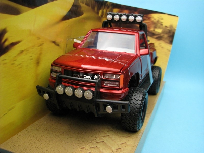 GMC Siera GT Pickup 1992 red 1:24 Motor Max